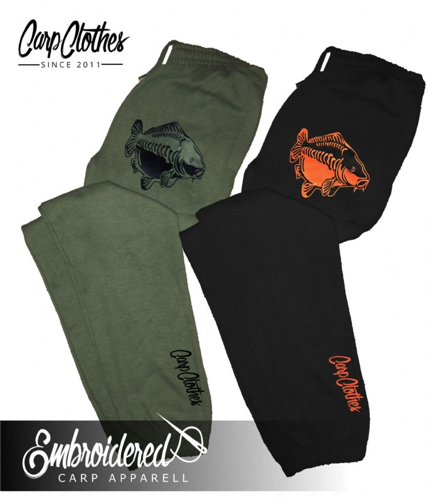 009 EMBROIDERED CARP JOGGERS